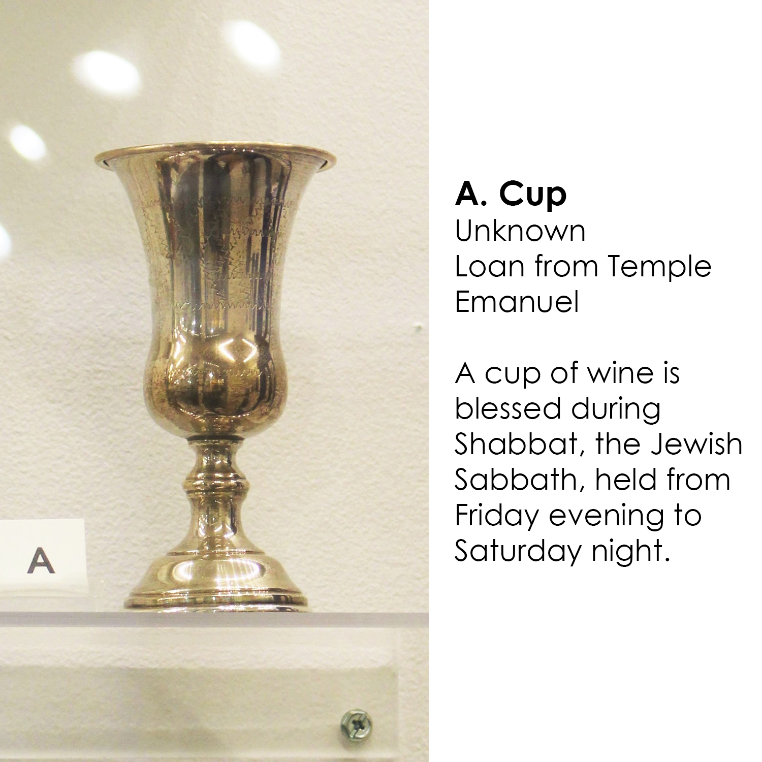 Silver cup for Shabbat