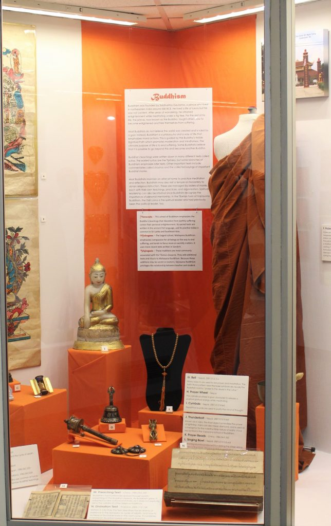 Buddhism section of MOA Faith exhibit