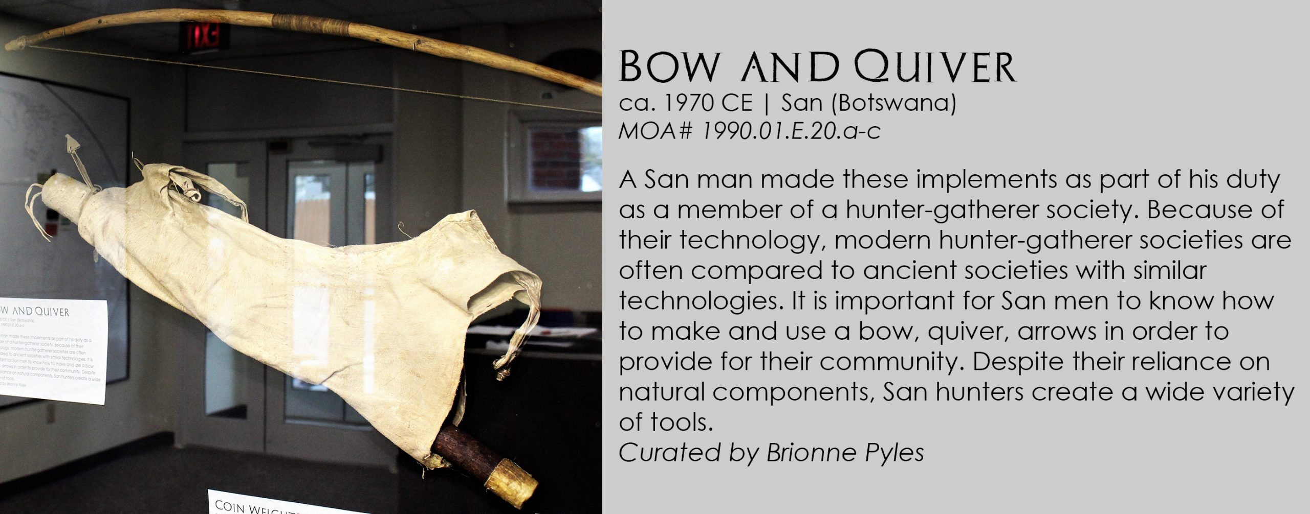 San Quiver and Bow from Botswana