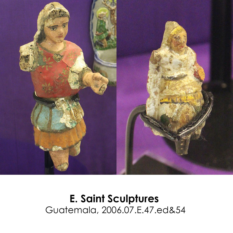 Saint Sculptures from Guatemala