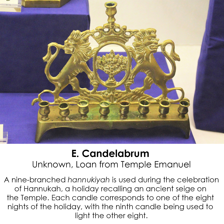 Hannukiyah candelabrum