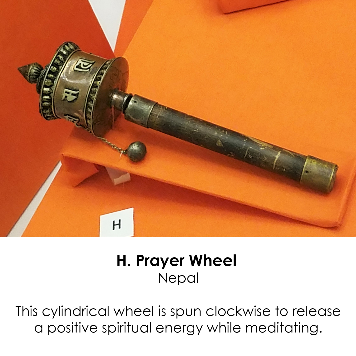 Buddhist Prayer Wheel from Nepal