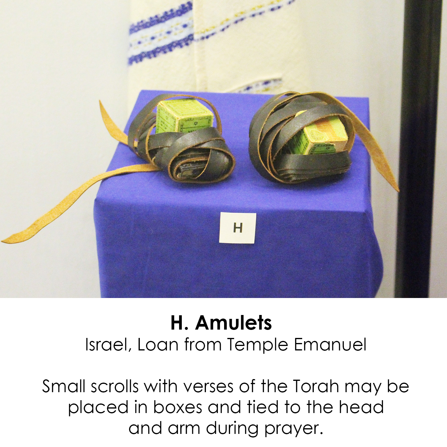 Amulets with verses from the Torah