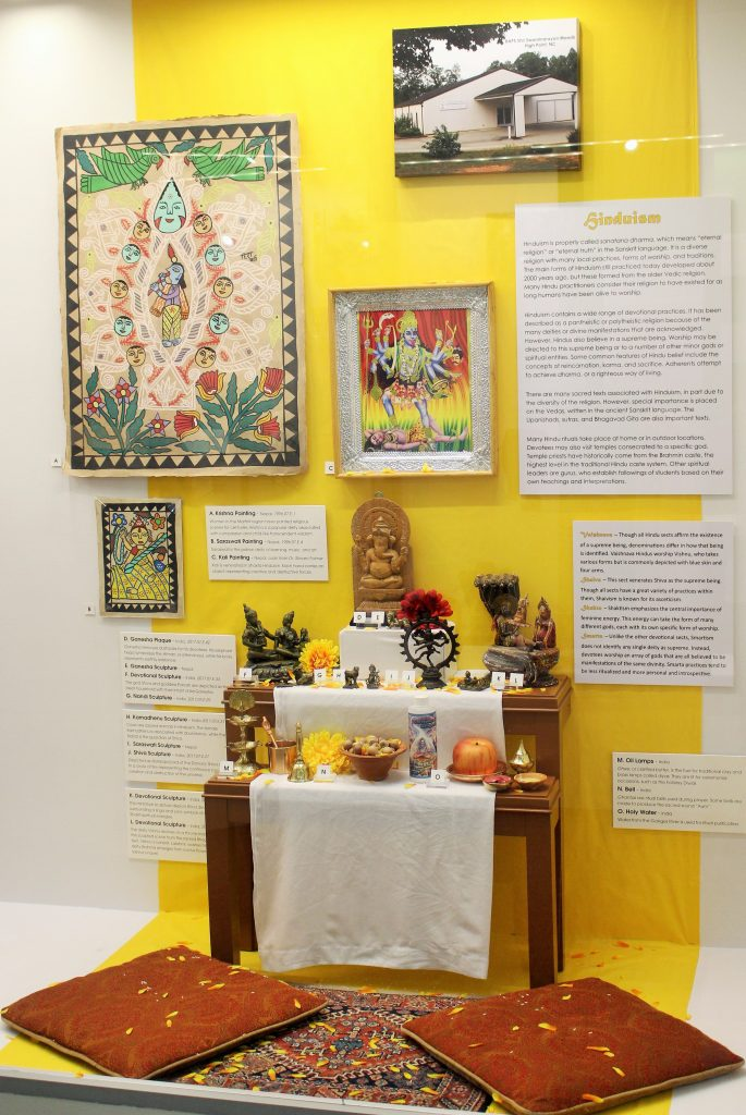Hinduism section of MOA Faith Exhibit