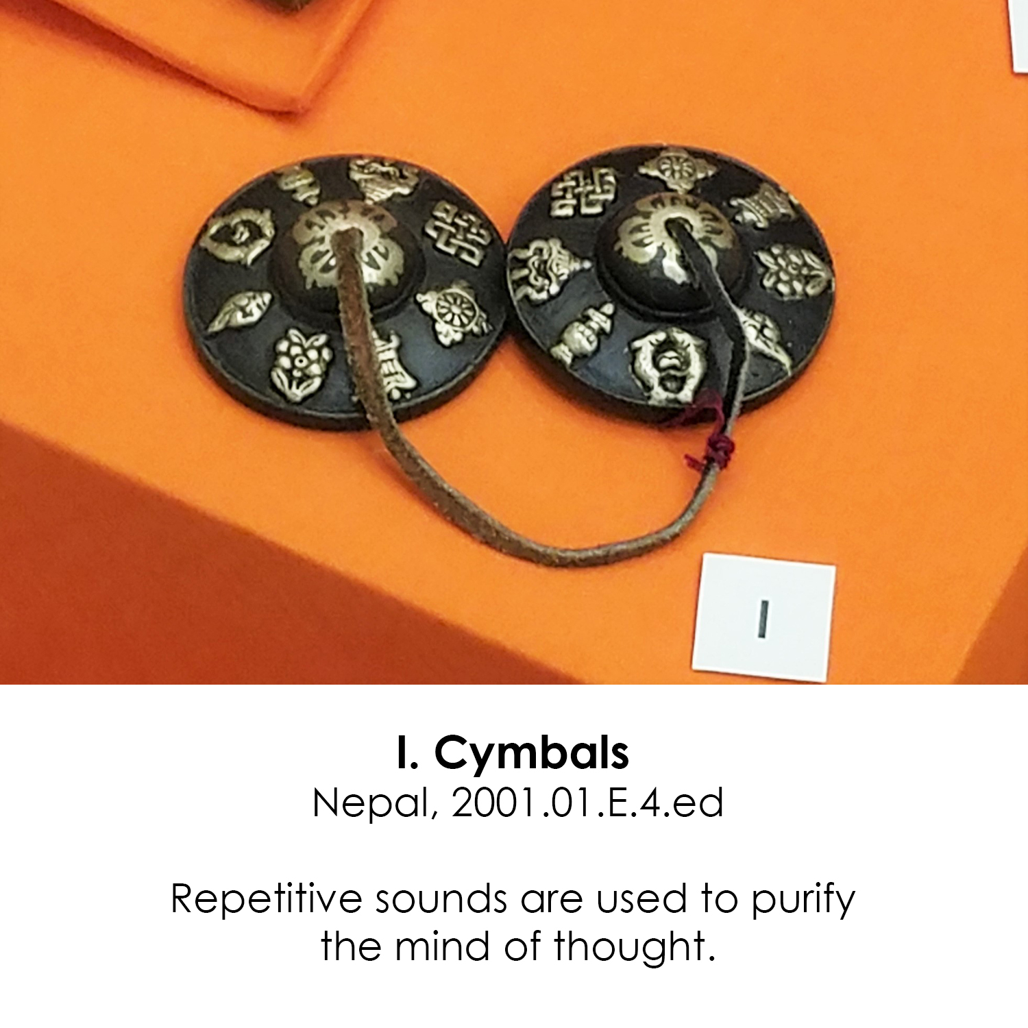 Buddhist Cymbals from Nepal