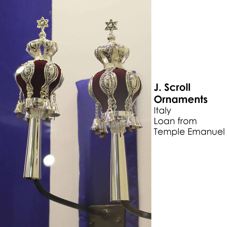 Torah scroll ornaments