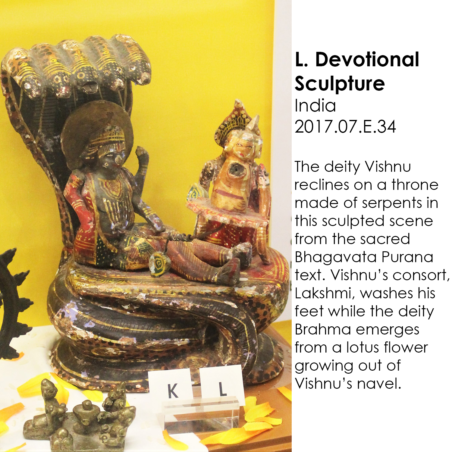 Vishnu sculpture from India