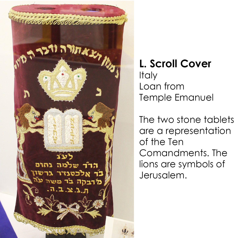 Torah scroll cover