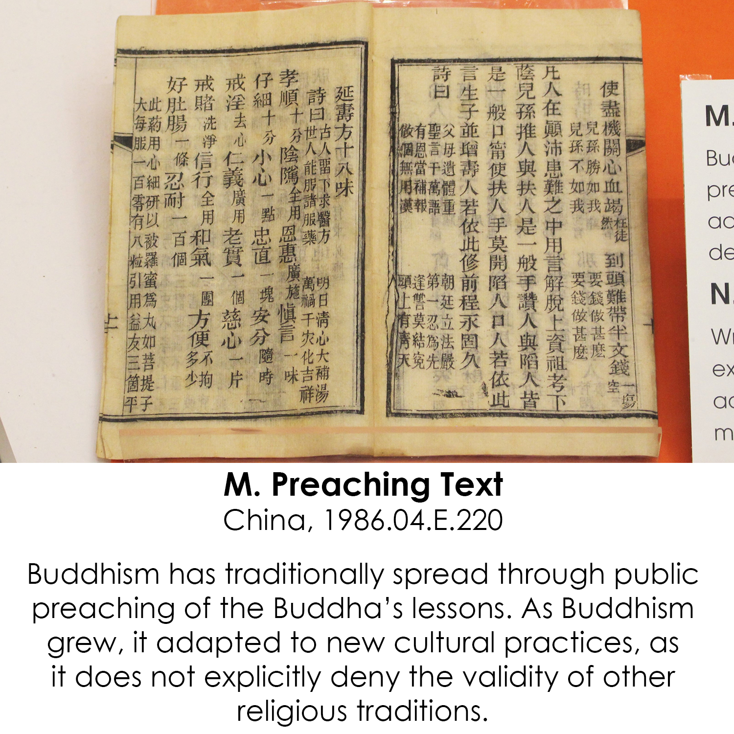 Buddhist Preaching Text from China
