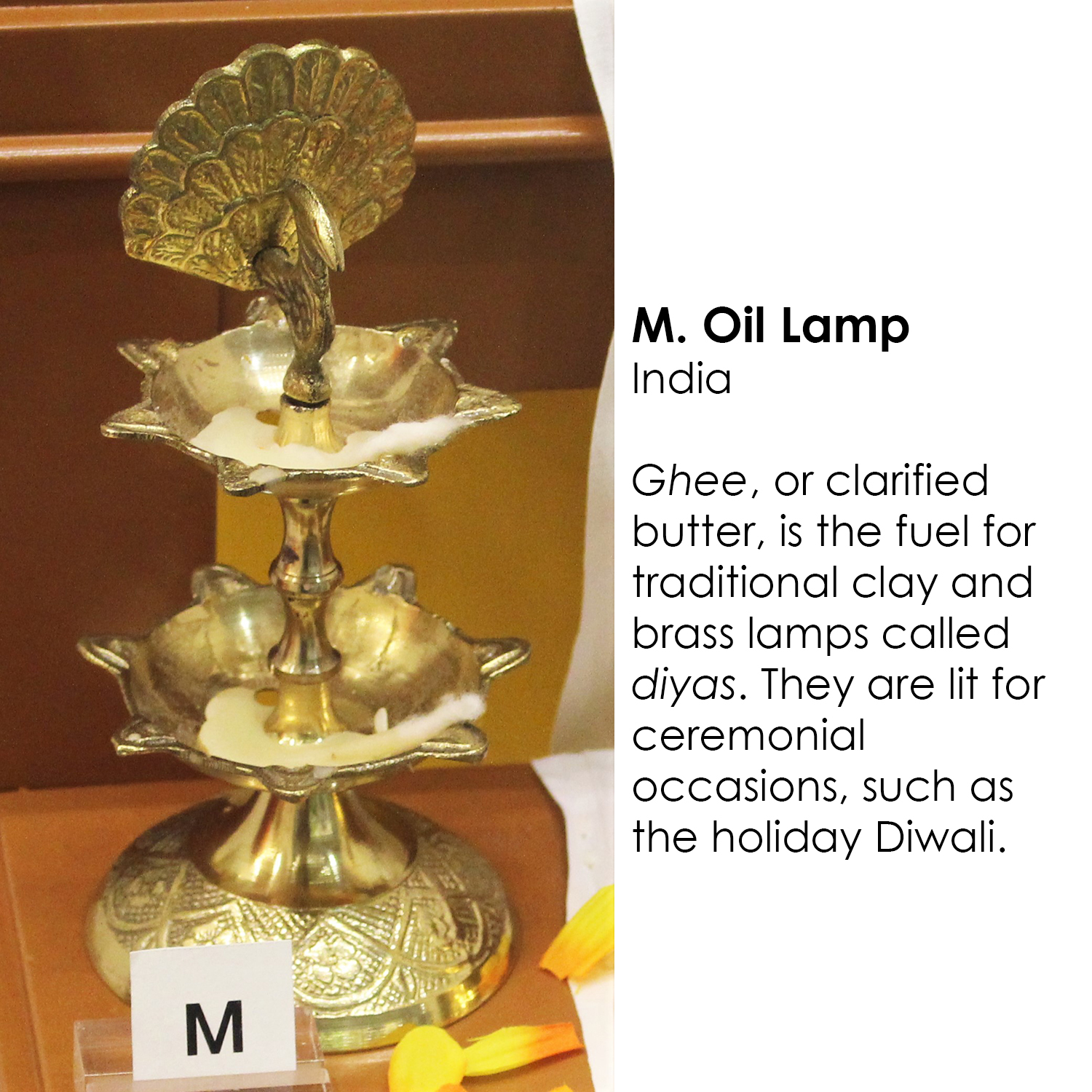 Hindu oil lamp from India