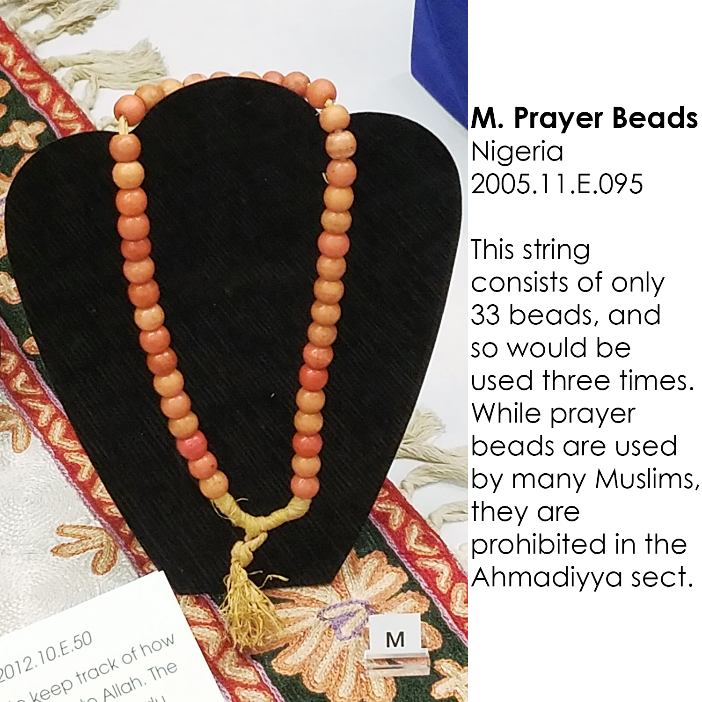 Muslim prayer beads from Nigeria