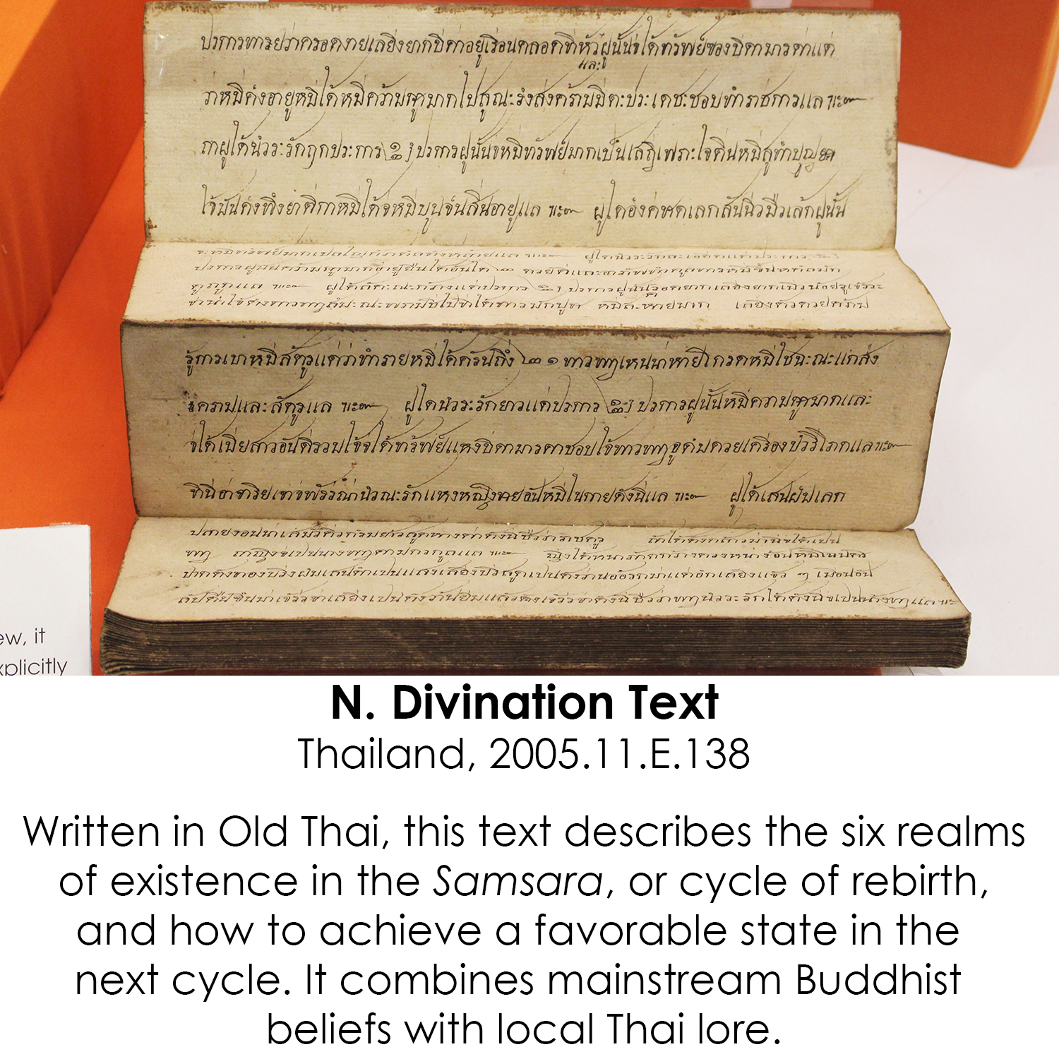 Buddhist Divination Text from Thailand