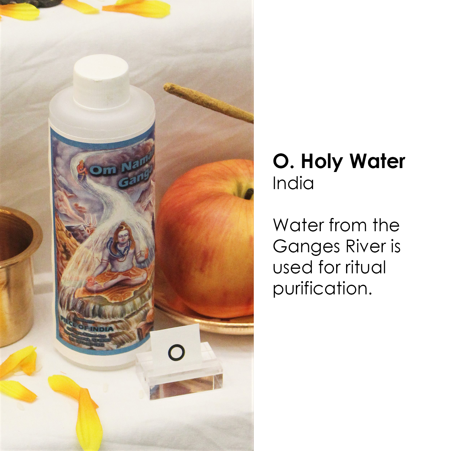 Hindu holy water from the Ganges River