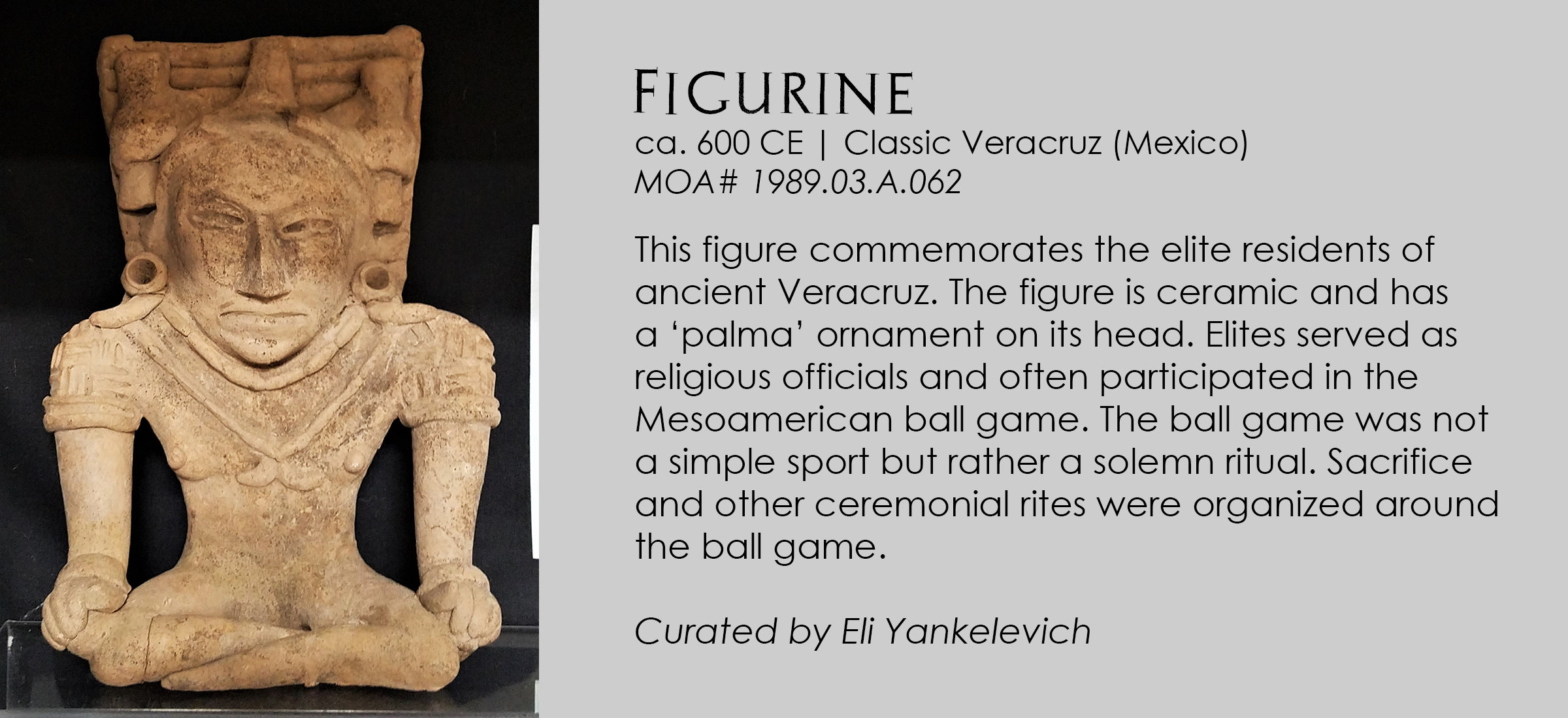 Classic Verracruz figurine from Mexico