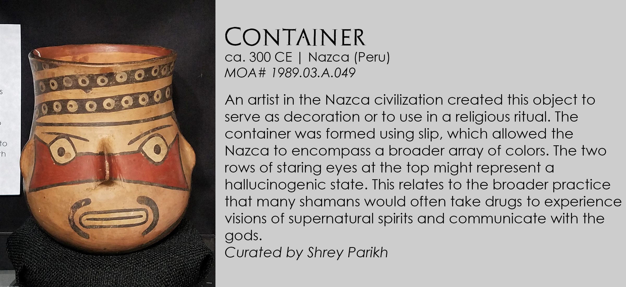 Nazca container from Peru
