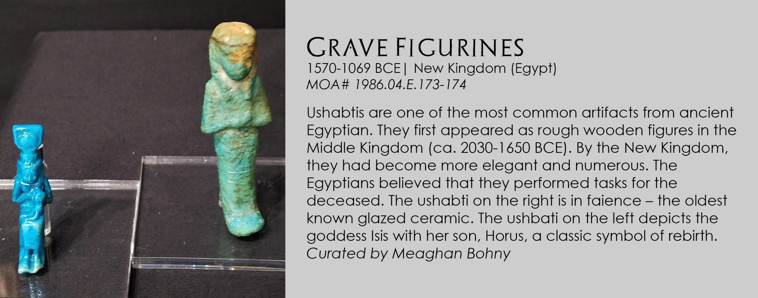 Ushabti grave figures from Egypt