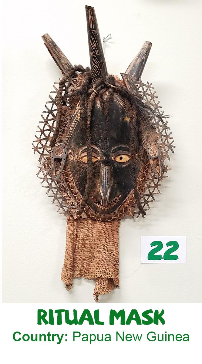 Papua New Guinea Ritual Mask