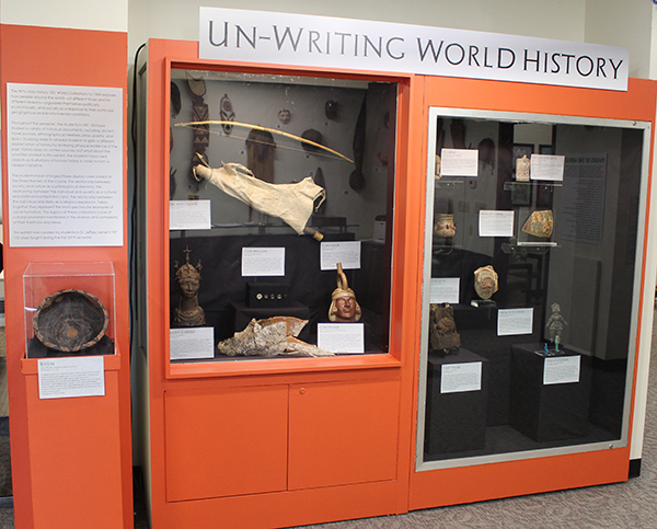 Un-Writing World History exhibit