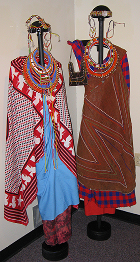 Maasai clothing and beadwork