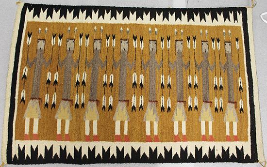 Yei pattern Navajo rug