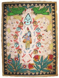 Mithila Krishna Painting