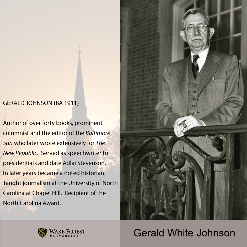 Gerald White Johnson
