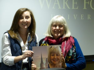 Words Awake Induction plaque being given