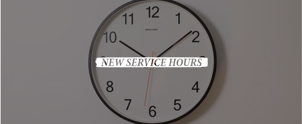 New service hours links