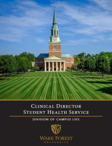 Clinical Director Prospectus cover