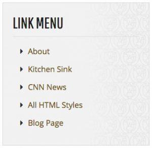 Link Menu screenshot