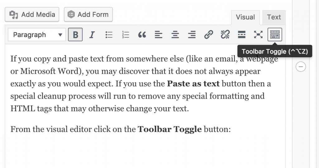 Toolbar Toggle