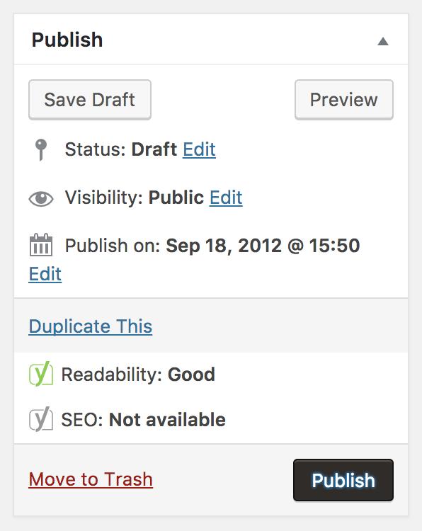 Publish blog