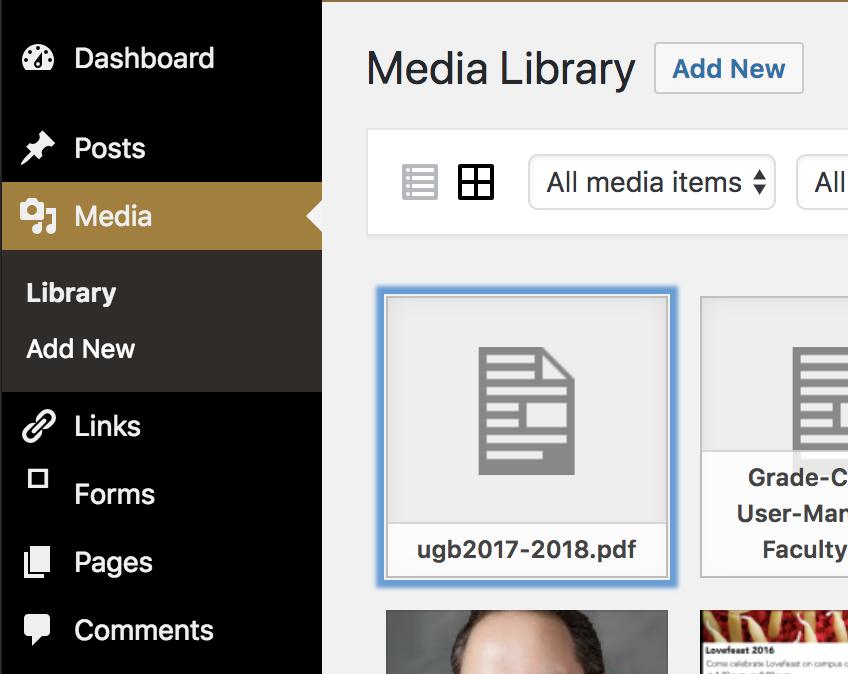 PDF Media Library