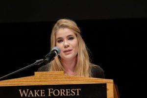 Ashley Laughlin at the podium