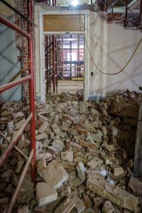 The former pool in Reynolds Gym during the renovation.