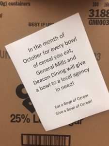 Eat a Bowl, Give a Bowl promotion