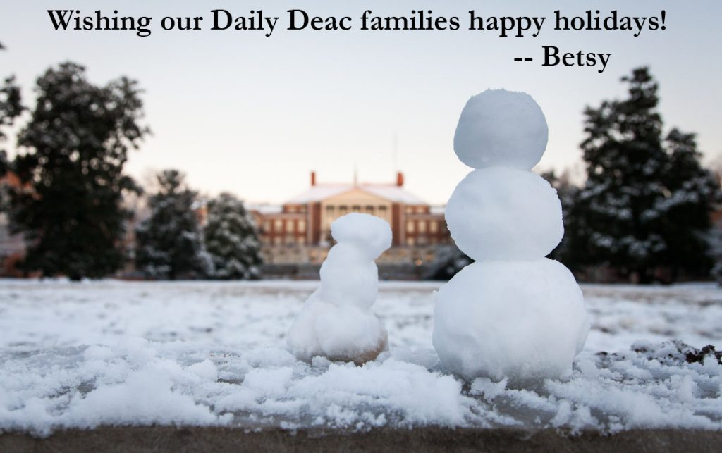 An e-card from the Daily Deac, wishing all our reader families a very happy holidays!