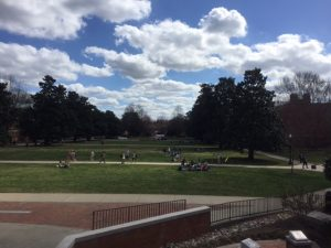 Beautiful day on the Mag (Manchester) Quad