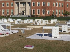 Desks will be painted by student organizations and given to local school children as part of the D.E.S.K. service project