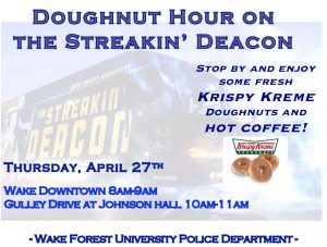 Streakin Deacon and donuts!