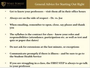 some suggestions for interacting with faculty