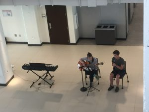 Musical performance at Wake Downtown