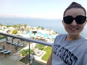 Riley Mistrot '19 at the Dead Sea