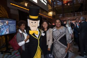 The Deacon greets Wake Foresters. (Photos by Leslie E. Kossoff/LK Photos)