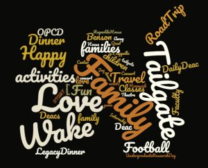 Family Weekend word cloud