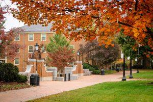 Kitchin Residence Hall on the campus of Wake Forest University, Sunday, November 5, 2017.