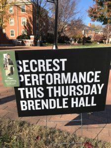 Secrest Artists Series sign