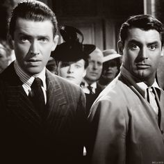 Jimmy Stewart and Cary Grant