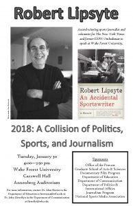 Robert Lipsyte flyer