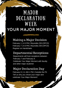 major/minor declaration